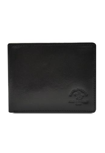 Santa Barbara Polo & Racquet Club black Santa Barbara Luxurious Leather Bifold Wallet SA678AC0GQ96SG_1