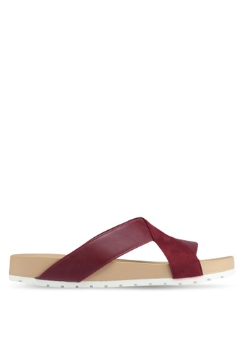 Bata red Bata Crossover Strap Sandals 4833FSH5E61BCEGS_1