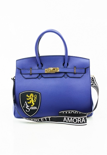Amora Scarlett gold Janey Blue Genuine Calf Leather Skin 30' ( Medium ) With Strap AM058AC0RZFZMY_1