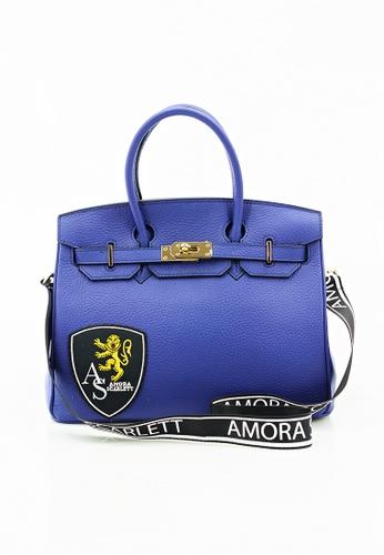 Amora Scarlett gold Janey Blue Genuine Calf Leather Skin 30' ( Medium ) With Strap AM058AC0RZFZMY_1