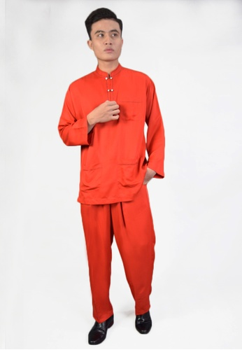 Denai Boutique red Baju Melayu Iman 6D59DAA2A9AEB3GS_1