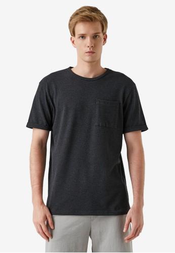 KOTON grey Basic Pocket T-Shirt E9CE5AA536274CGS_1