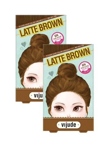 Mediheal brown Mediheal Vijude Hair Color Cream x2 Boxes (Shade: 6n Latte Brown) 5FEB2BEC3A2433GS_1