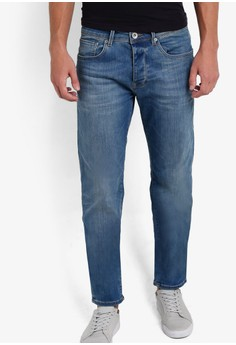 Image of Mid Blue Straight Jeans