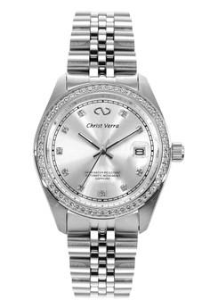 harga Christ Verra Automatic Men's Watch CV 72026G-11 SLV White Silver Stainless Steel Zalora.co.id