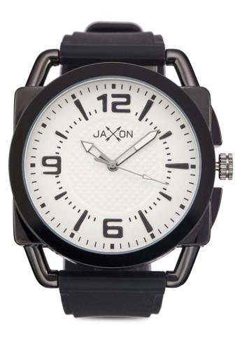 經典幾zalora 泳衣何圖形矽膠圓錶, 錶類, 飾品配件