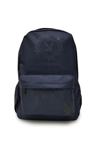 Playboy blue Wreath Print Backpack 48F36AC337FF4FGS_1