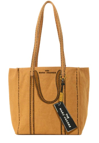 Marc Jacobs yellow Marc Jacobs Trompe L'oeil Tag 27 Tote Bag in Toast Multi 58840AC7D1FCBFGS_1