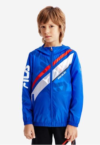 FILA blue FILA KIDS Transparent Hooded Jacket 8-13yrs C6175KA2281739GS_1