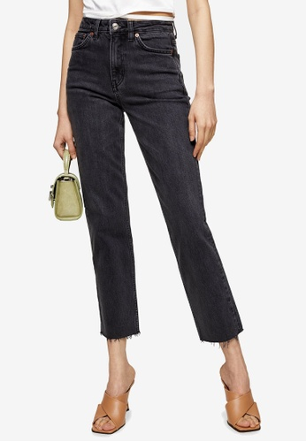 TOPSHOP multi Washed Black Straight Leg Jeans 2C0B1AABD024D7GS_1