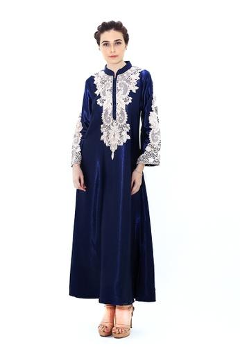 Adam.R blue Zeytoun A-line Dress C1A74AA480FDA4GS_1