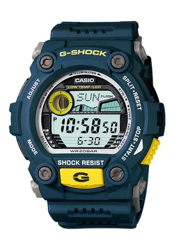 CASIO blue Casio G-Shock Yellow and Blue Resin Watch CDE13ACD61F4F4GS_1