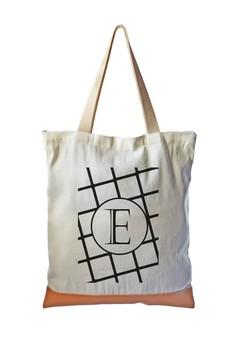 Tote Bag Minimalist Initial E