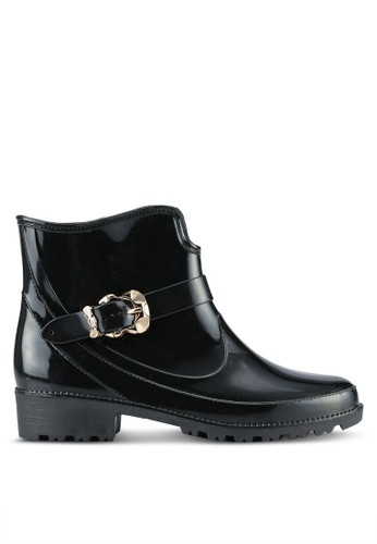 Twenty Eight Shoes black Buckle Ankle Rain Boots TW281SH0RLULMY_1