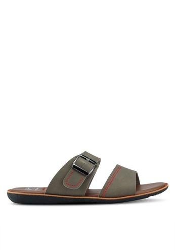 Spiffy brown Soft Simple Sandals 845A1SHCA21503GS_1