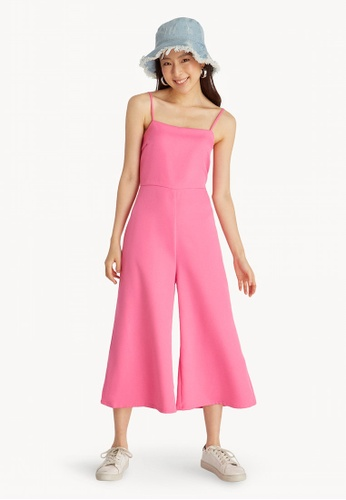 88d4e0ce8aa0 Pomelo pink Cami Wide Leg Jumpsuit - Pink 49578AAA1738CFGS 1