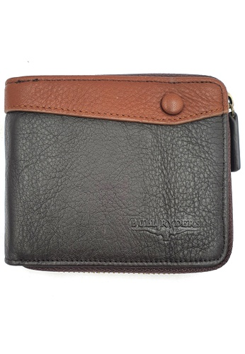 midzone brown BULL RYDERS Genuine Cow Leather Zipper Wallet BWHA-80578 32EB5ACC09069BGS_1
