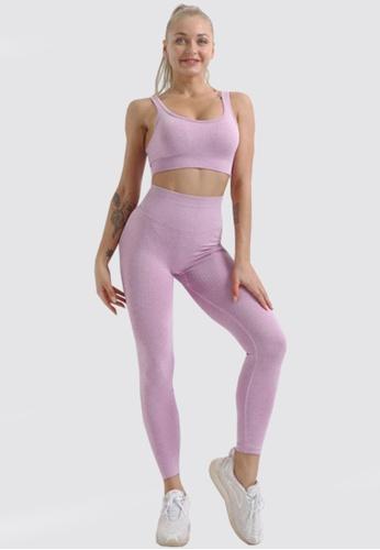 Twenty Eight Shoes purple VANSA Pure Color Vest Yoga Set  VPW-Y555 A11F8AA166AD1BGS_1