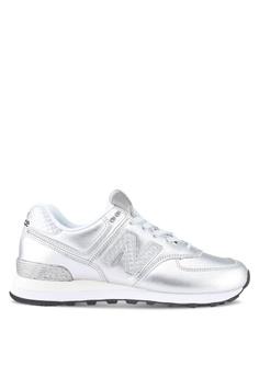 881b454c02b69 New Balance silver 574 Glitter Punk Shoes DFE60SHD25B3D0GS 1