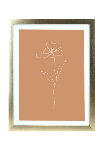 Klosh gold Matt Gold A3 Frame - Burnt Orange Floral Print 54560HLA9C448CGS_1