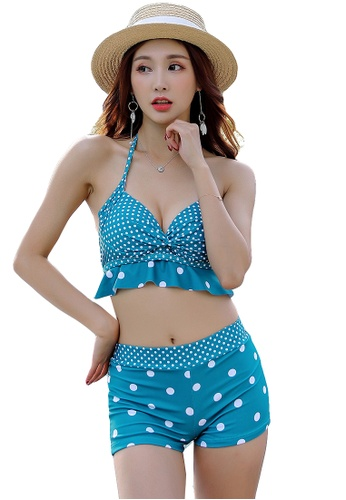 YG Fitness green (3PCS) Vintage Cover Belly Bikini Set DA2DBUS8389B7CGS_1