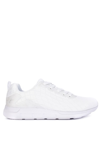 Jump white Jersey Sneakers 04144SH35AF0A4GS_1