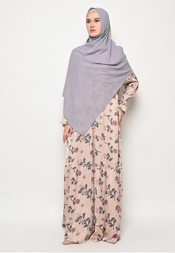 Tazqa Hijrah brown Jasica Dress A6E69AAAD384D2GS_1