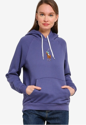 Polo Ralph Lauren blue Long Sleeve Knit Hoodie 40CAAAA0BC9CF9GS_1