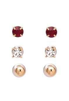 Faux Stone Earring Set