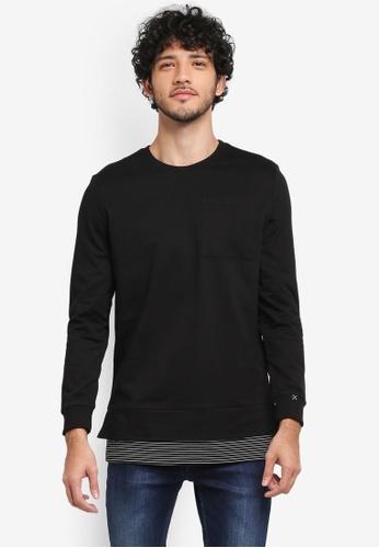 JAXON black Two Tier Sweatshirt 9304DAA9BE991DGS_1