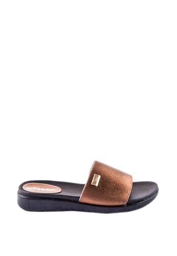 Otto brown Slide Sandals 2E8A5SH49099A2GS_1