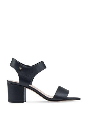 ALDO 黑色 Wicendasa Open Toe Ankle Strap Block Heels BCE70SH4EE0084GS_1