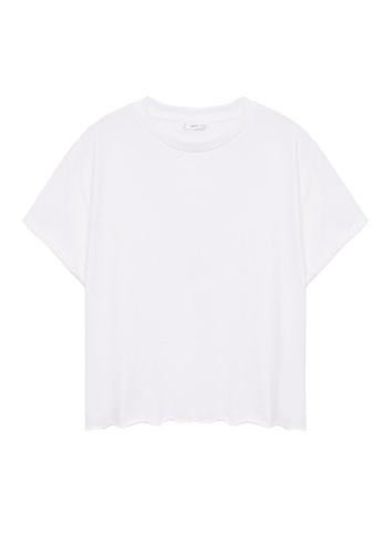 MANGO KIDS white Organic Cotton Essential T-Shirt D36BBKA0F1E14CGS_1