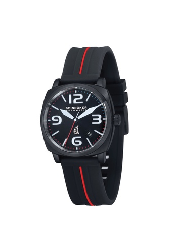 Spinnaker black Hull Rubber Strap Watch SP641AC18LNXPH_1