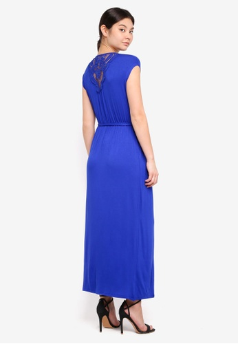 Dorothy Perkins blue Petite Crochet Back Maxi Dress 2ADA5AA33AC939GS_1