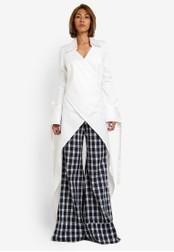 AfiqM white The Drape Shirt AF546AA0S2LYMY_1