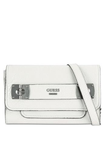 Guess white Frankee Crossbody Bag GU020AC0RJAUMY_1