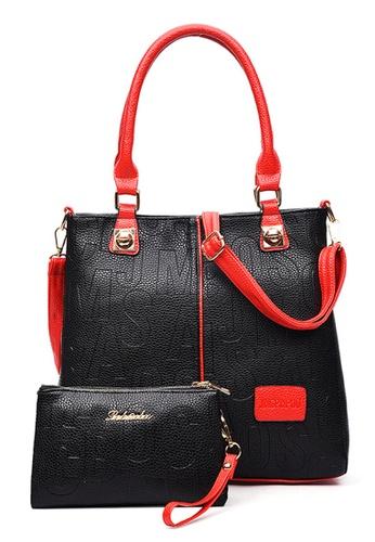 Vince black European Designed Luxury Vegan Leather Tote With Purse ( Black ) VI456AC40AXRMY_1