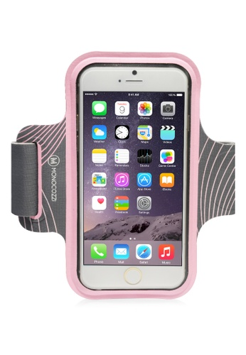 Monocozzi pink Motion Sports Armband with Cable Management for iPhone 6 Plus MO983AC54BXLHK_1