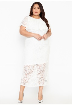 951101f7fc RUESALIDOU white Plus Size Tanya Long Gown 4EAD3AA7BDF51DGS_1