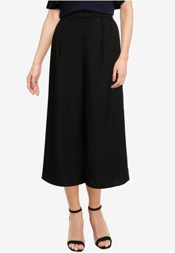 LOWRYS FARM black Belted Culotte Pants 13ABFAA8B4E319GS_1
