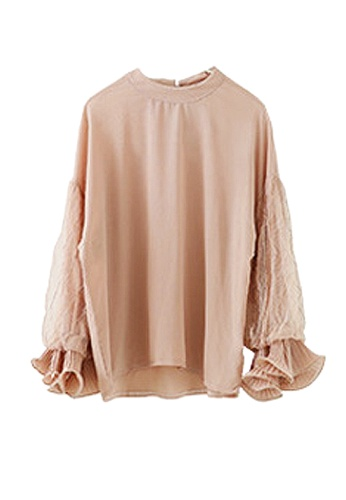 Twenty Eight Shoes pink VANSA Lace Long Sleeve Blouse  VCW-Bs2235 27FE8AAA8A9CDCGS_1