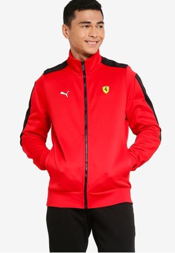 PUMA 紅色 Scuderia Ferrari Race T7 Men's Track 外套 39554AA1A8CB69GS_1