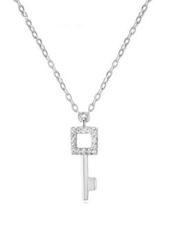Vivere Rosse silver Vivere Rosse Quadrate Key Necklace - Silver VI014AC44KSHMY_1