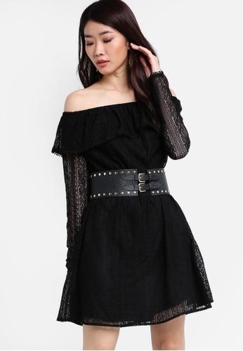 ZALORA black Premium Off-Shoulder Lace Dress C6F68AA55B48BDGS_1