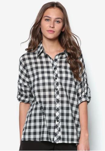 格紋長袖襯衫, 服飾, 服esprit retail飾