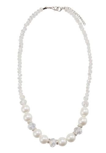 水晶珍珠項鍊, 飾品配件, 清新esprit 衣服俏皮