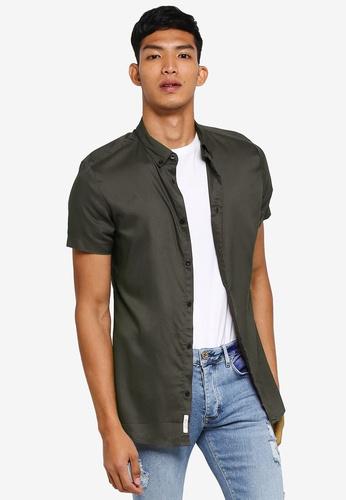 River Island 綠色 短袖襯衫 2477CAAA5AC36FGS_1