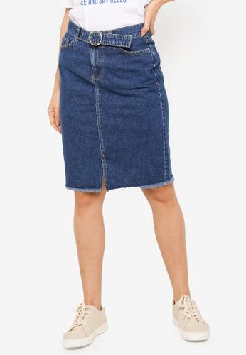 a072c56441 Buy LC Waikiki Knee-Length Pencil Jean Skirt Online | ZALORA Malaysia