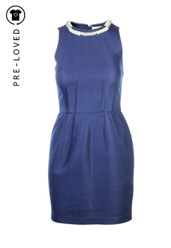 3.1 Phillip Lim blue Pre-Loved 3.1 phillip lim Blue Dress with Collar Detailing 15862AAECB56D4GS_1